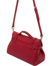 Mulberry Alexa Shrunken Leather Satchel - Lyst