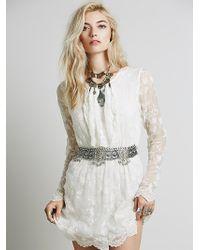 Free People Lolita Bib Dress - Lyst