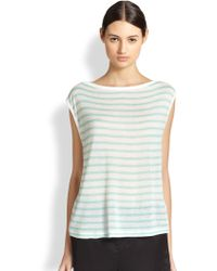 T By Alexander Wang Striped Muscle Tee - Lyst