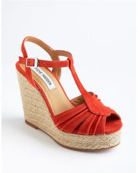 Steve Madden Mammbow Suede Espadrilles - Lyst