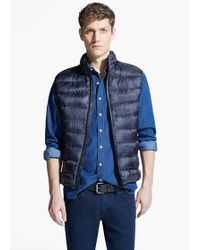 Mango Camo Water-repellent Quilted Gilet - Lyst