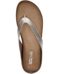 Kenneth Cole Reaction Pewter Ice Cube Flip Flops - Lyst
