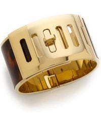 Michael Kors Wide Turn Lock Cuff Bracelet  - Lyst