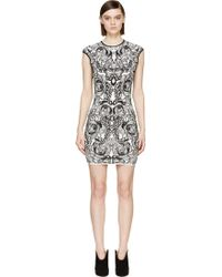 Alexander McQueen Knit Jacquard Sleeveless Dress - Lyst