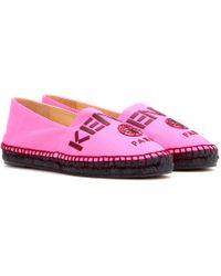 Kenzo Canvas Espadrilles pink - Lyst