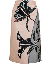 Marni Floral Printed Cottonsilk Pencil Skirt - Lyst