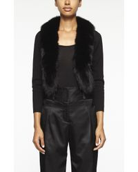 Nicole Miller Fox Fur Cardigan black - Lyst