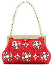 Dolce & Gabbana Sara Embellished Shoulder Bag red - Lyst