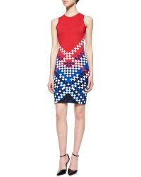 Alexander Wang Color-Block Checkerboard Sheath Dress - Lyst