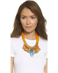 Holst + Lee   On The Beach In Hawaii Necklace - Orange Multi   Lyst