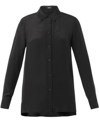 Freda Pointcollar Silk Shirt - Lyst
