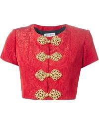 Yves Saint Laurent Vintage Cropped Military Bolero red - Lyst