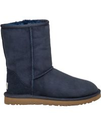 Ugg | Classic Short Boot Navy Suede | Lyst