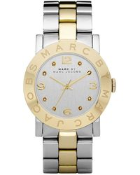 Marc By Marc Jacobs Amy Two Tone Watch - Lyst