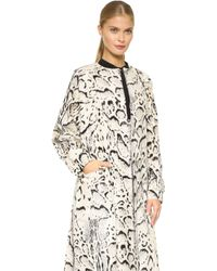 Prabal Gurung - Faux Fur Coat - Ivory - Lyst