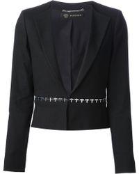 Versace Rivet Detail Blazer - Lyst