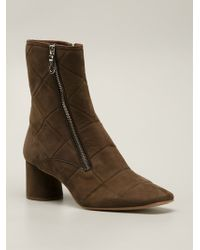 Marc Jacobs Brown Quilted Booties - Lyst