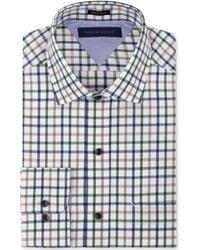 Tommy Hilfiger Big and Tall Navy Multi-check Dress Shirt - Lyst