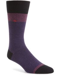 Calvin Klein Jacquard Socks - Purple - Lyst