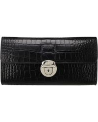 Osprey London - The Lamarr Crocodile Print Polished Clutch Bag - Lyst