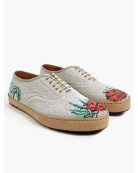 Paul Smith Men'S Grey Ladybird Motif Woven Sneakers - Lyst