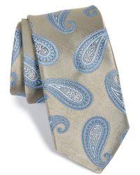Michael Kors 'Park Avenue' Paisley Silk Tie brown - Lyst