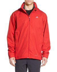 Adidas Originals Wandertag Climaproof Waterproof Jacket In Red For