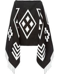 Marcelo Burlon County Of Milan Mapuche Poncho Top - Lyst