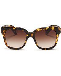 Oliver Peoples 'Brinley' Tortoiseshell Acetate Cat Eye Sunglasses - Lyst