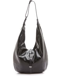 Halston Heritage Glazed Vintage Hobo Bag - Black - Lyst