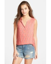 Ace Delivery - Print Sleeveless Blouse - Lyst