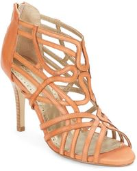Adrienne Vittadini Gutsy Strappy Leather Sandals - Lyst