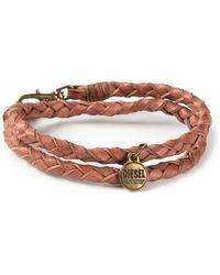 Diesel Double Braided Bracelet - Lyst