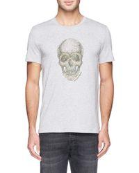 Alexander McQueen Spot Skull Embroidery T-Shirt gray - Lyst