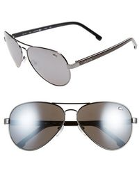 Lacoste 62Mm Aviator Sunglasses - Lyst
