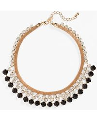Natasha Couture Crystal Statement Necklace - Lyst