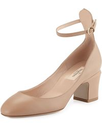 Valentino Tango Napa Leather Pump - Lyst