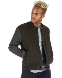 Robert Geller | James Varsity Jacket In Khaki | Lyst