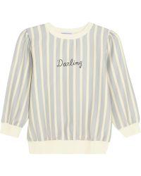 Finds Darling Striped Cottonblend Sweatshirt - Lyst