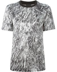 McQ by Alexander McQueen Silver Foil Print T-Shirt - Lyst