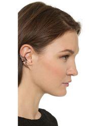 Katie Rowland | Zelle Dip Dye Ear Cuff - Silver/rose Gold/lavender | Lyst