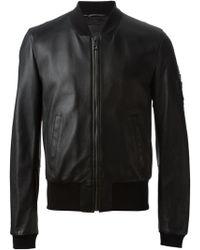 Dolce & Gabbana Zip Bomber Jacket - Lyst