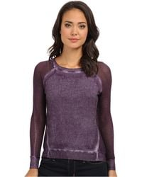 DKNY Mesh and Woven Mix Sweatshirt W Cold Pigment - Lyst