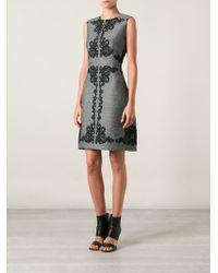 Diane von Furstenberg Embroidered Ornate Detail Dress - Lyst