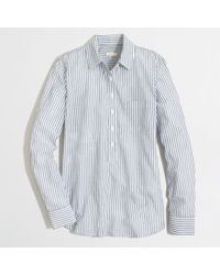 J.Crew Factory Stripe Pocket Popover - Lyst