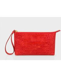Paul Smith - Croc-Embossed Leather Wristlet - Lyst