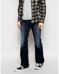 Diesel Jeans Zatiny Bootcut Fit 837K Dark Wash - Lyst