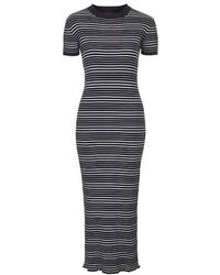 Topshop Knitted Stripe Maxi Dress - Lyst