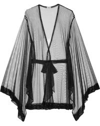 Agent Provocateur Didi Beaded Tulle Kimono - Lyst