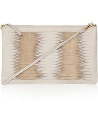 Topshop Twisted Leather Clutch Bag - Lyst